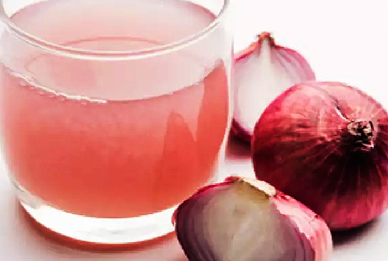onion juice is helpful for hairs